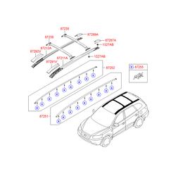 Рейлинг крыши кузова (Hyundai-KIA) 872802B0002Z
