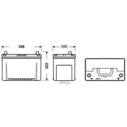 Батарея аккумуляторная 95а/ч 800а 12в (DETA) DA954