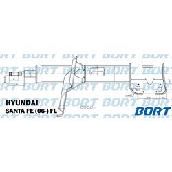 Стойка амортизационная газомасляная / передняя / левая (BORT) G22254025L