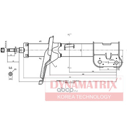 Амортизатор подвески газонаполненный (DYNAMATRIX-KOREA) DSA339751