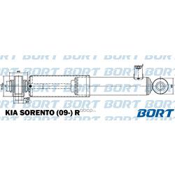 Амортизатор газомасляный задний (BORT) G11245236