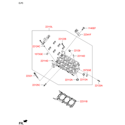 Головка блока цилиндров (Hyundai-KIA) 513R53CA00