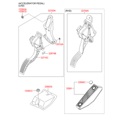 Педаль акселератора (Hyundai-KIA) 327002B110