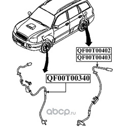 Импульсный датчик abs (QUATTRO FRENI) QF00T00403