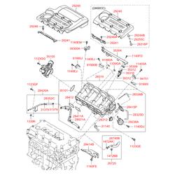 Клапан дроссельной заслонки (Hyundai-KIA) 3510025200