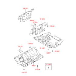Защитная панель моторного отсека (Hyundai-KIA) 2911026012