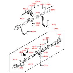 Крестовина кардана заднего (оригинал) (Hyundai-KIA) 4914043001