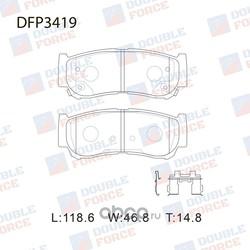 Колодки тормозные дисковые (DOUBLE FORCE) DFP3419