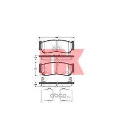 Комплект тормозных колодок, дисковый тормоз (Nk) 223428