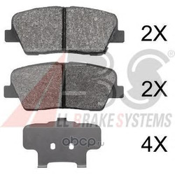 Комплект тормозных колодок, дисковый тормоз (Abs) 37795