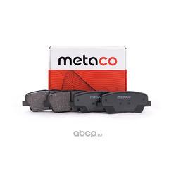 Колодки тормозные задние дисковые (комплект) (METACO) 3010037