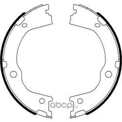 Колодки тормозные барабанные (Textar) 91075900