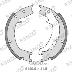 Комплект тормозных колодок, барабанный тормоз, задняя ось (RENZO) RZ040