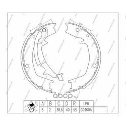 Комплект тормозных колодок (Nippon pieces) H350I14