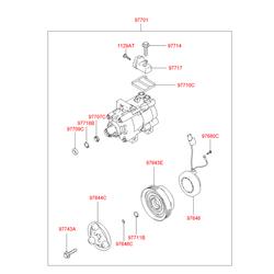 Компрессор кондиционера (Hyundai-KIA) 9770125000