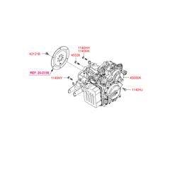 АКПП в сборе (Hyundai-KIA) 450003A576