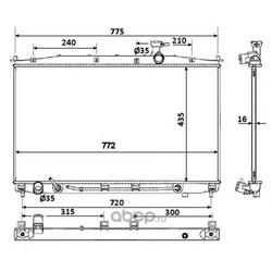 Радиатор двигателя (NRF) 53943