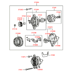 Выпрямитель генератора (Hyundai-KIA) 3736737100