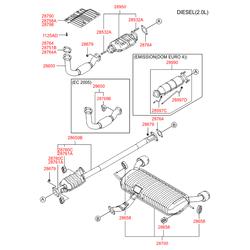 Резинка глушителя (Hyundai-KIA) 28761H1000