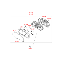 Щиток приборов в сборе индикаторные (Hyundai-KIA) 940032B151