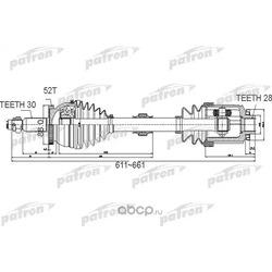 Полуось (PATRON) PDS0501