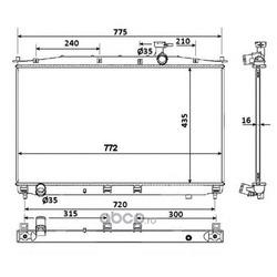Радиатор, охлаждение двигателя (NRF) 53942