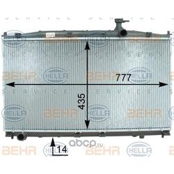 Радиатор, охлаждение двигателя (HELLA) 8MK376763421