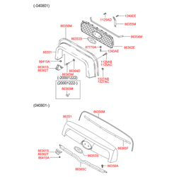 Рамка, облицовка радиатора (Hyundai-KIA) 8635126900