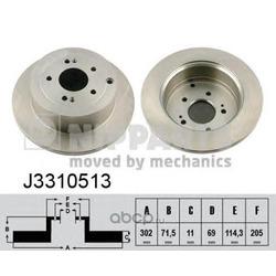 Тормозной диск (Nipparts) J3310513
