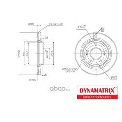 Диск тормозной (DYNAMATRIX-KOREA) DBD1239
