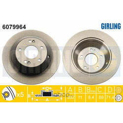 Тормозной диск (Girling) 6079964