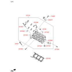 Головка блока цилиндров (Hyundai-KIA) 221103CAB1