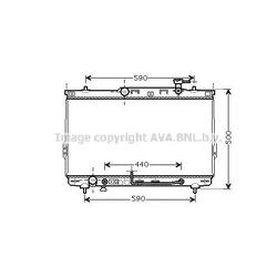 Радиатор, охлаждение двигателя (Ava) HYA2110