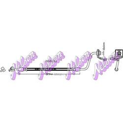 Тормозной шланг (KAWE) H6820Q