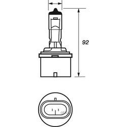 Лампа накаливания, противотуманная фара (Motorquip) VBU880