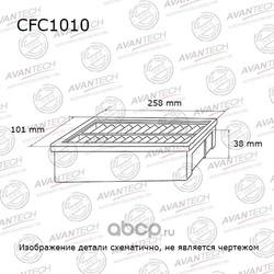 Фильтр салонный (угольный) (AVANTECH) CFC1010