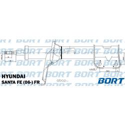 Стойка амортизационная газомасляная передняя правая (BORT) G22254033R