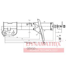 Амортизатор подвески газонаполненный (DYNAMATRIX-KOREA) DSA339750
