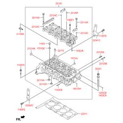 Головка блока (Hyundai-KIA) 221002F000