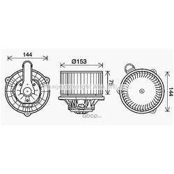 Электродвигатель, вентиляция салона (Ava) HY8460