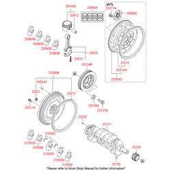 Коленвал (Hyundai-KIA) 2311125220