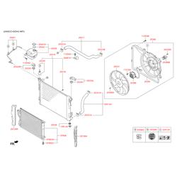 Подушка радиатора охлаждения нижняя (Hyundai-KIA) 253362B000