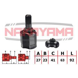 Шрус внутренний левый (комплект) (NAKAYAMA) NJ7212NY