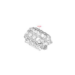 Блок цилиндров в сборе (Hyundai-KIA) 2110237H00