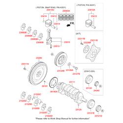Коленвал (Hyundai-KIA) 231112G230