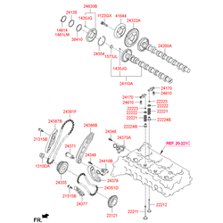 Кулачковый вал впускных клапанов (Hyundai-KIA) 241102F300