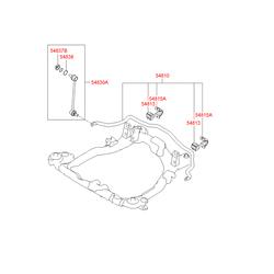 Опорная скоба втулки стабилизатора (Hyundai-KIA) 5481526100