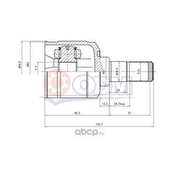 Шрус внутренний (комплект) (ODM-MULTIPARTS) HY35005