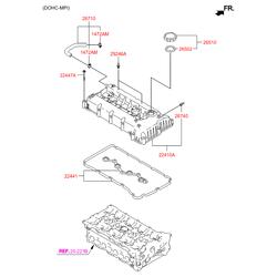Прокладка топливного насоса двигателя (Hyundai-KIA) 224422G700