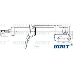 Стойка амортизационная газомасляная передняя правая (BORT) G22254005R
